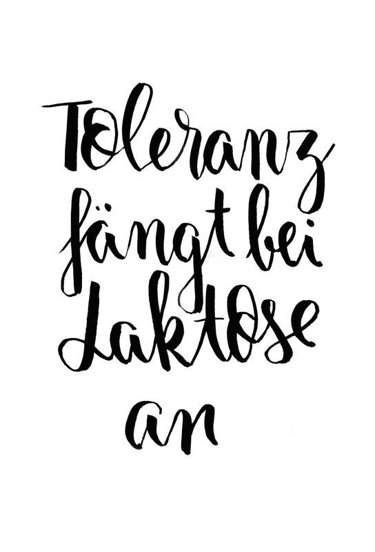 Toleranz -Alubild
