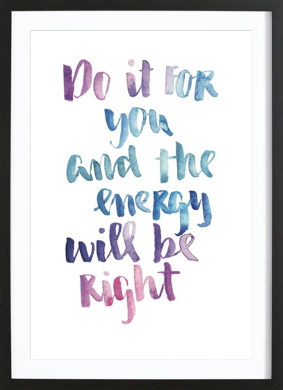 Do It For You -Bild mit Holzrahmen