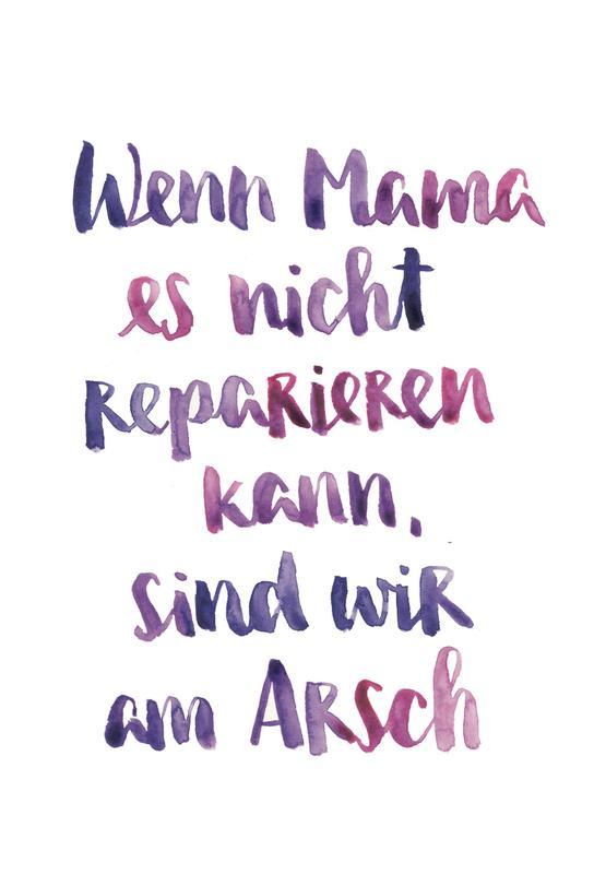 Mama 2 -Acrylglasbild