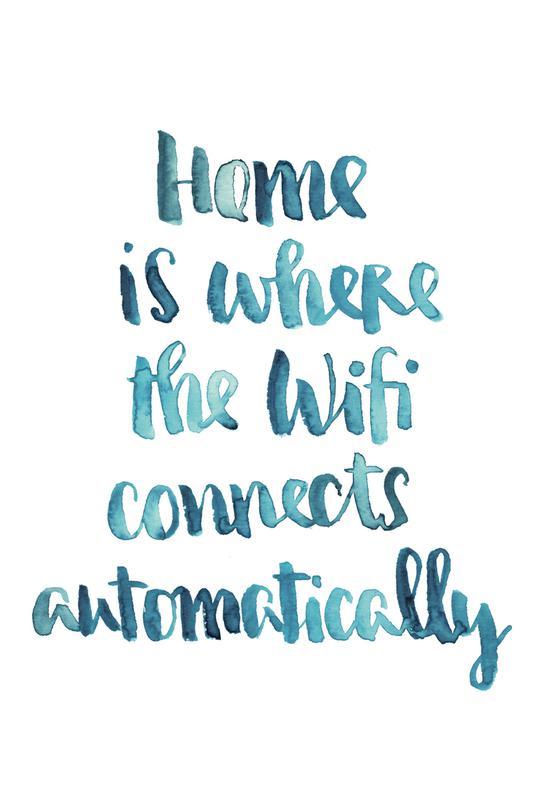 Wifi Home -Alubild