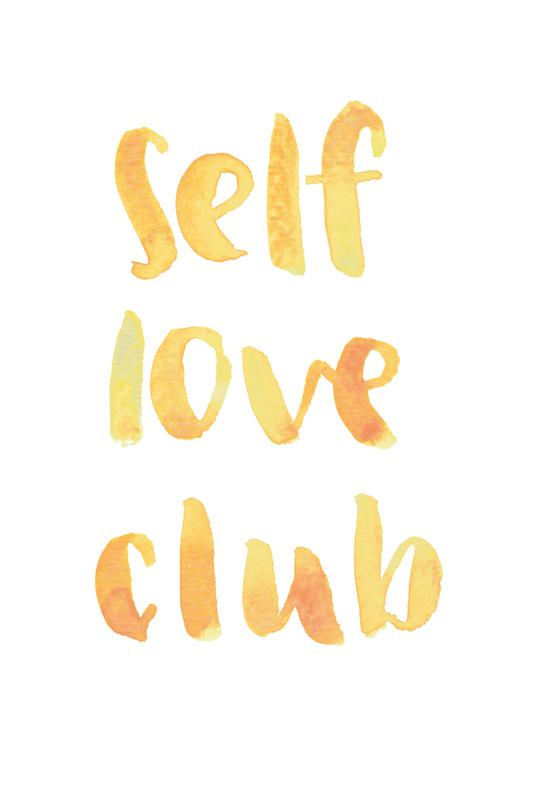 Self Love Club -Acrylglasbild