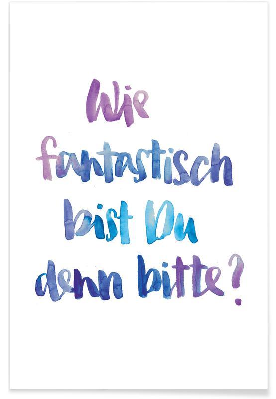 Fantastisch Blau -Poster