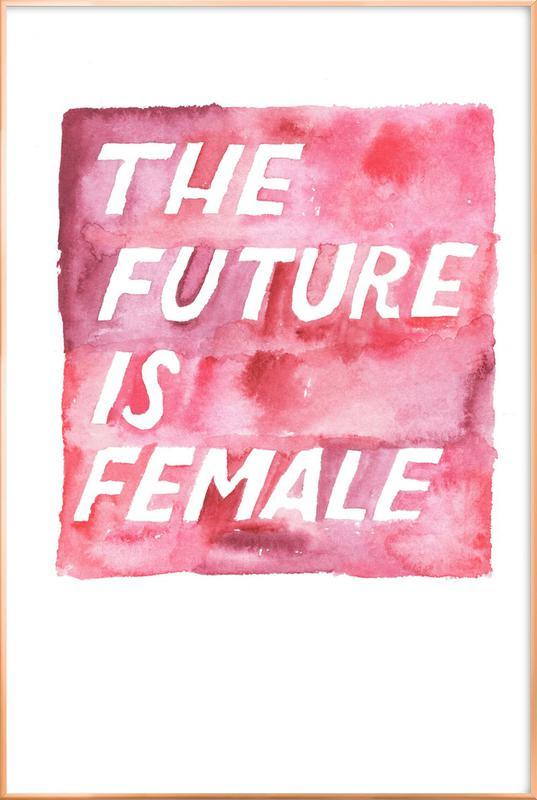 The Future Is Female Poster in Aluminium Frame