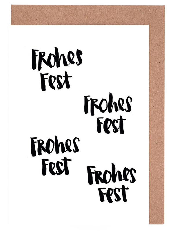 Frohes Fest Greeting Card Set