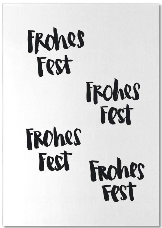 Frohes Fest -Notizblock