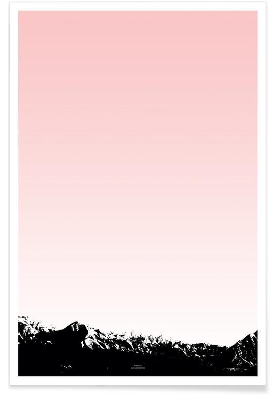 Paysages abstraits, Pink Storm affiche