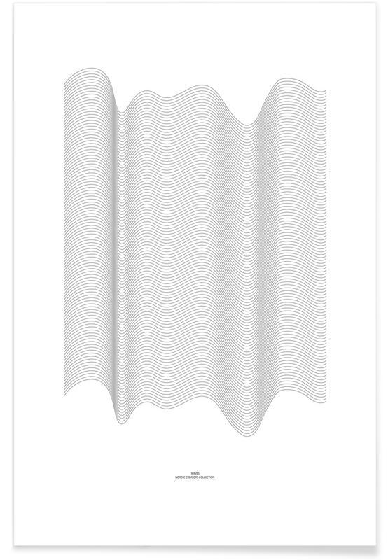 Zwart en wit, Waves poster