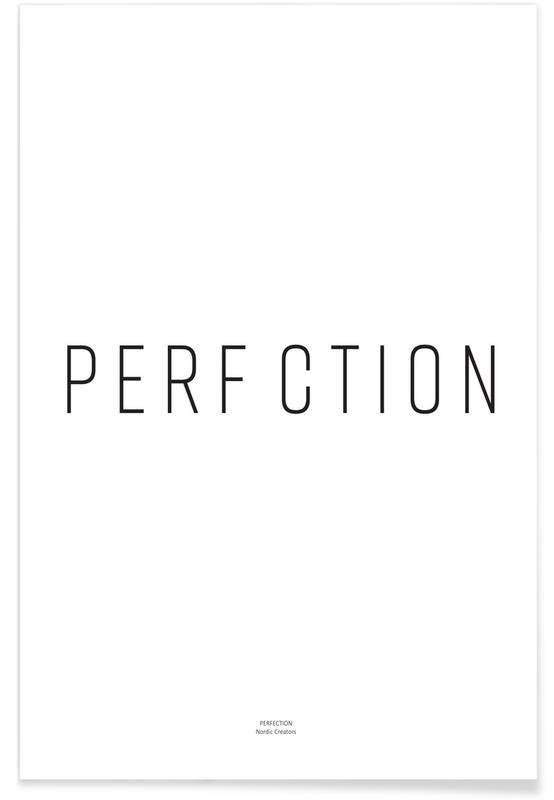 Zwart en wit, Quotes en slogans, Perfection poster