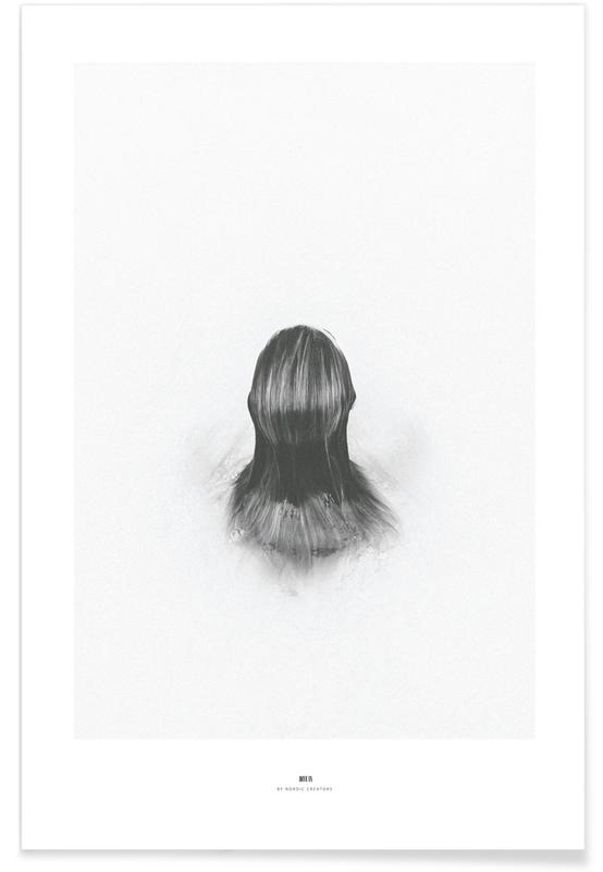 Zwart en wit, Dromerig, Dive In poster
