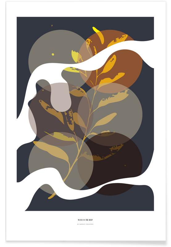 Feuilles & Plantes, Waves in the Deep affiche