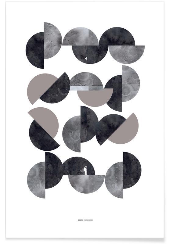 Noir & blanc, Geometric affiche