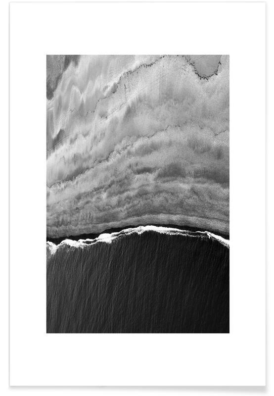 Paysages abstraits, Noir & blanc, Océans, mers & lacs, Black Ocean affiche