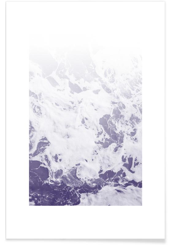 Paysages abstraits, Océans, mers & lacs, Purple Ocean affiche