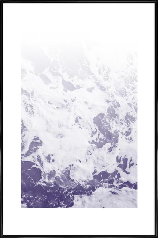 Purple Ocean -Bild mit Kunststoffrahmen