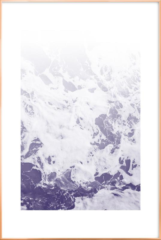 Purple Ocean poster in aluminium lijst