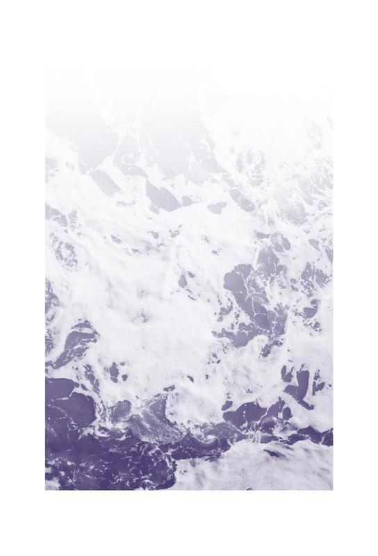 Purple Ocean Aluminium Print