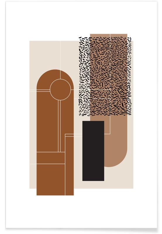, Beige & Brown affiche