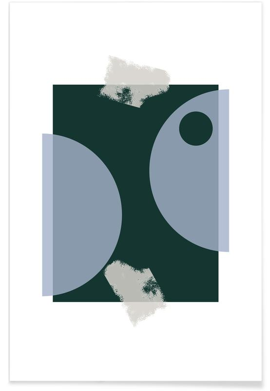 , Blue & Green affiche