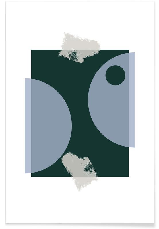 Blue & Green -Poster