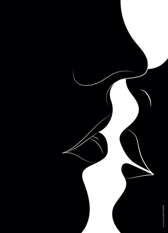 Just a Black Kiss Canvas Print