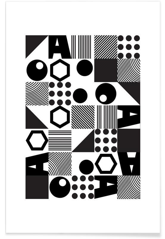 Noir & blanc, Geometric 2 affiche