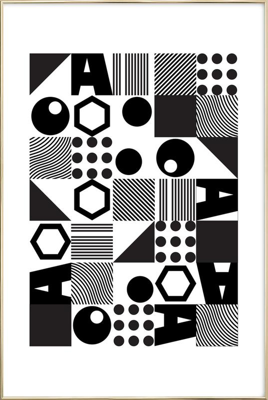 Geometric 2 Poster in Aluminium Frame