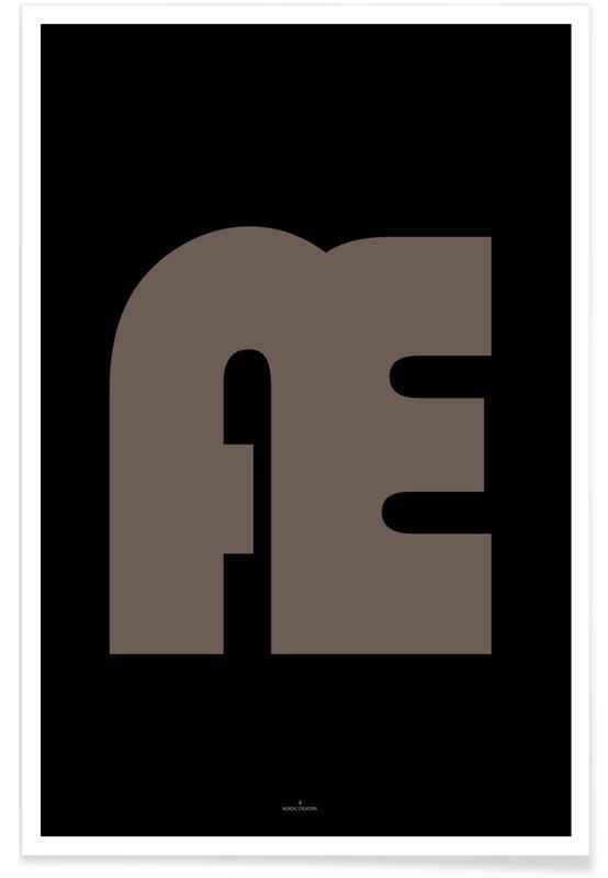 Alfabet en letters, Æ poster