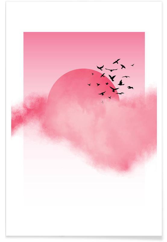 Paysages abstraits, Pink Sunshine affiche