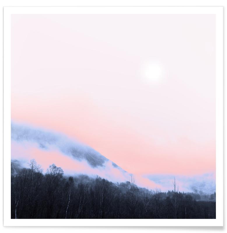 Abstrakte Landschaften, Smokey Pink -Poster