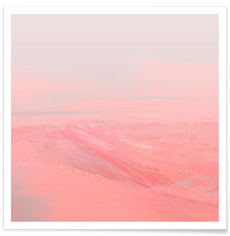 Abstract Landscapes, Chemin Rose Poster