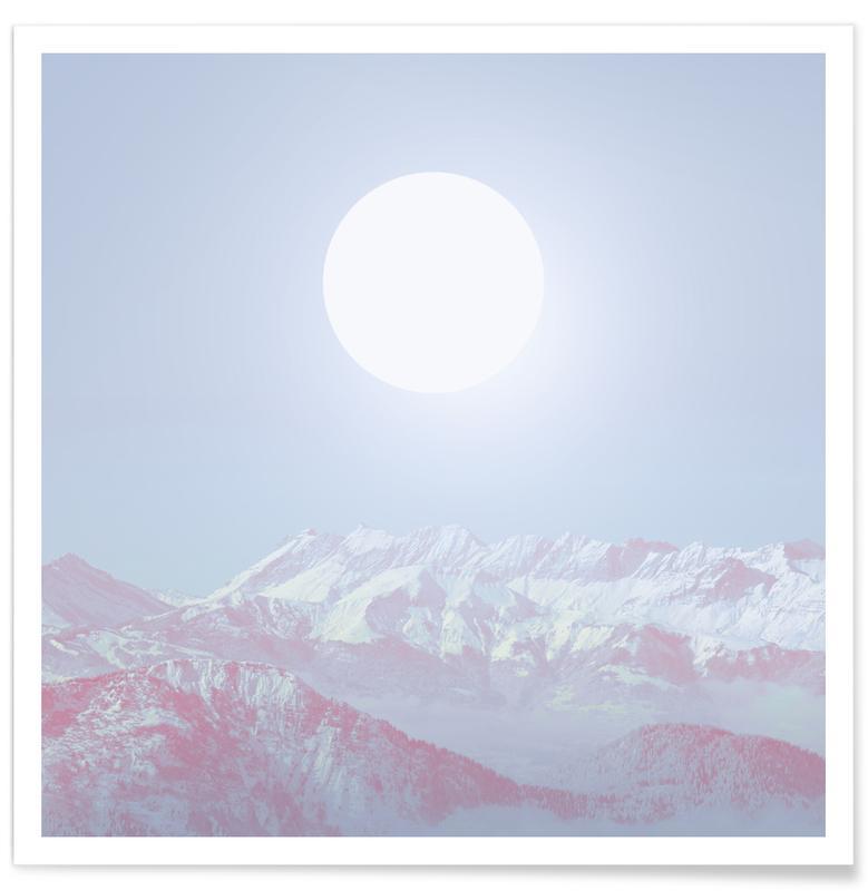Abstrakte Landschaften, Berge, Perle -Poster