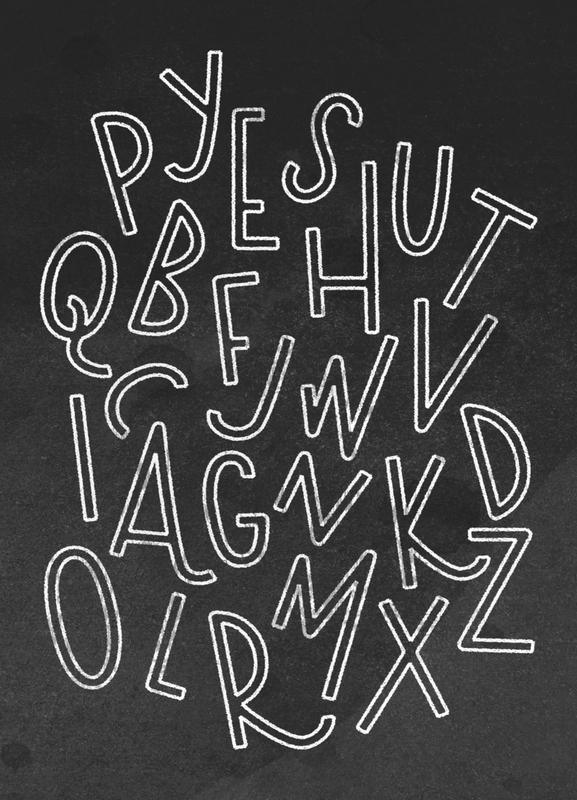 All the Letters -Leinwandbild