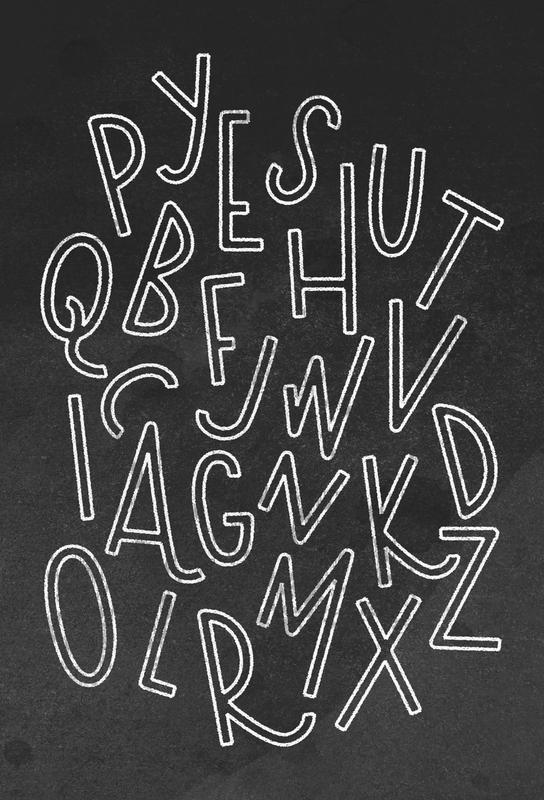 All the Letters tableau en verre