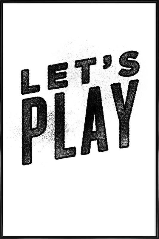 Let's Play affiche encadrée