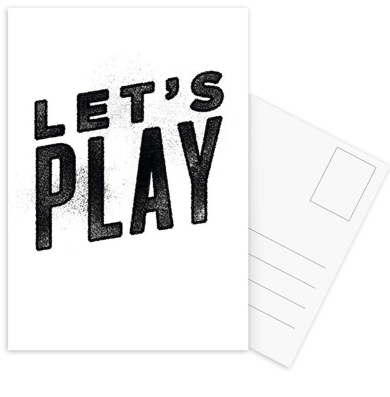 Let's Play cartes postales
