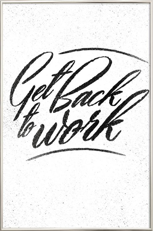Back to Work poster in aluminium lijst