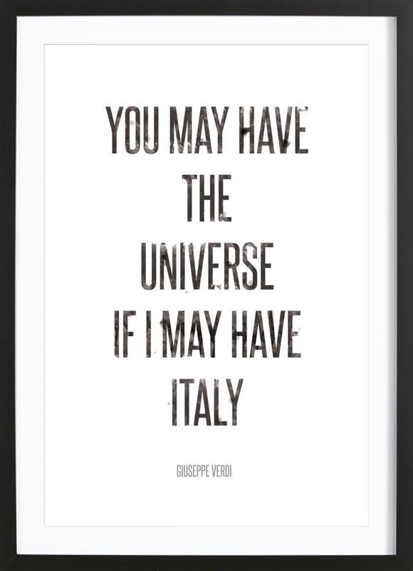Italy ingelijste print