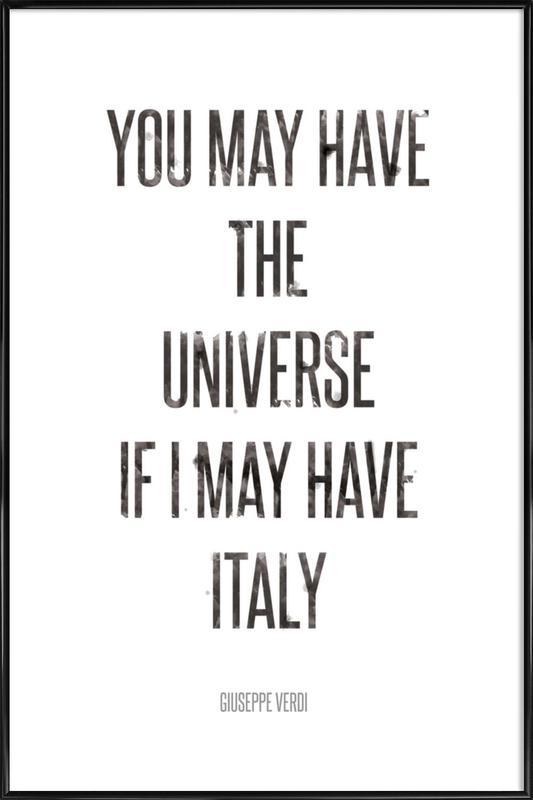 Italy ingelijste poster