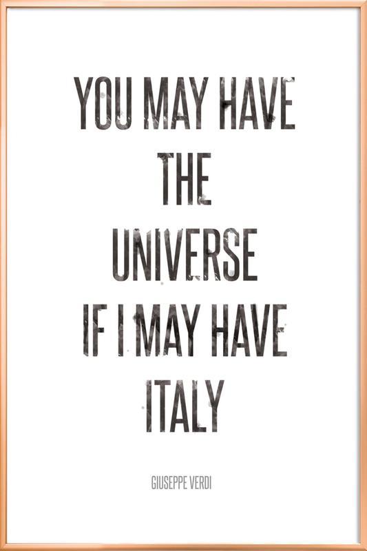 Italy poster in aluminium lijst