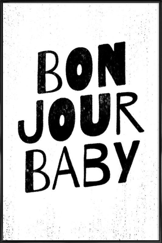 Bonjour Baby affiche encadrée