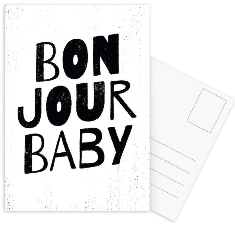 Bonjour Baby cartes postales