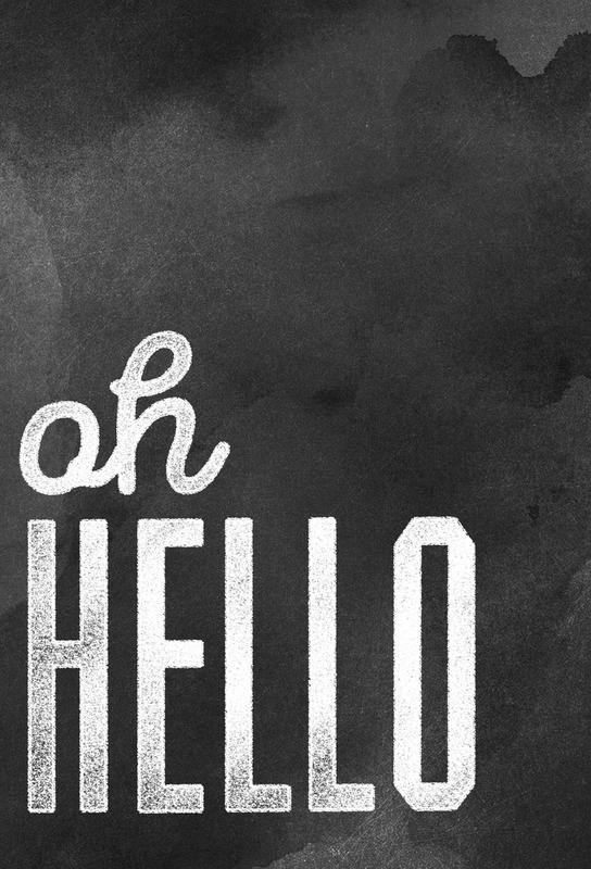 Oh Hello -Acrylglasbild