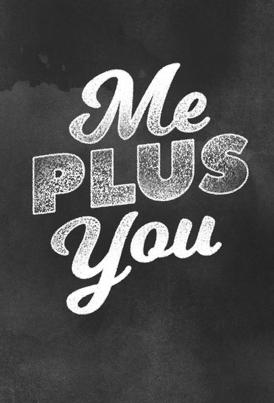 Me Plus You acrylglas print