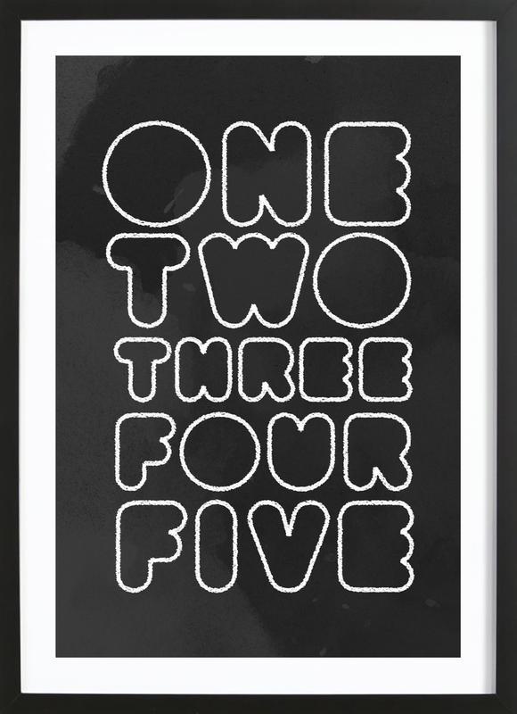 One Through Five affiche sous cadre en bois