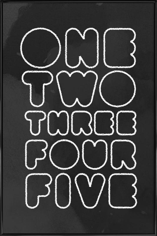 One Through Five ingelijste poster