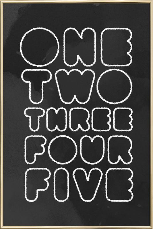 One Through Five affiche sous cadre en aluminium