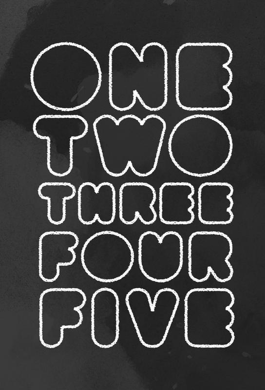 One Through Five alu dibond