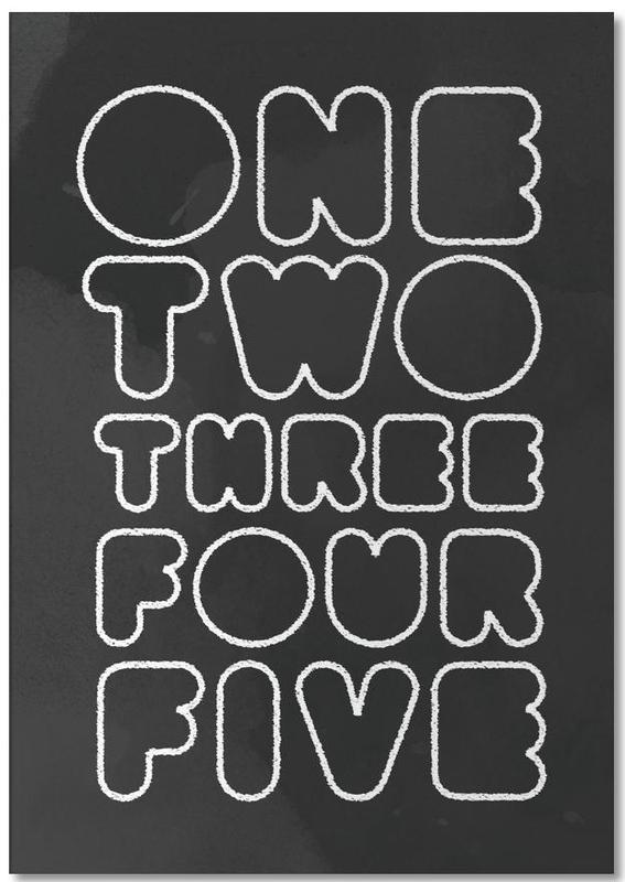 One Through Five -Notizblock