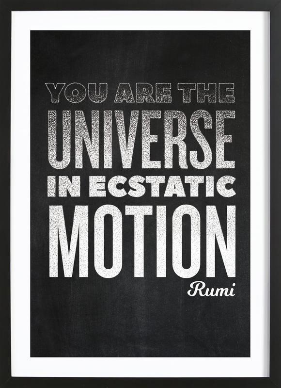 You Are the Universe affiche sous cadre en bois