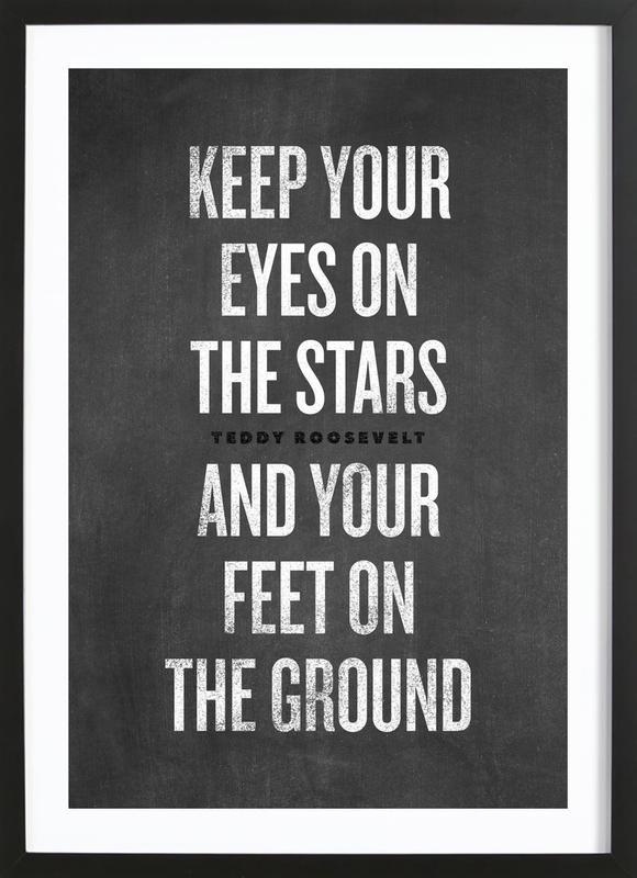 Eyes on the Stars affiche sous cadre en bois